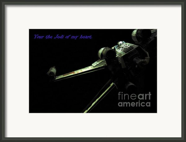 Star Wars Card Framed Print By Micah May