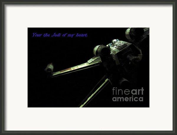 Star Wars Card Framed Print By Micah May