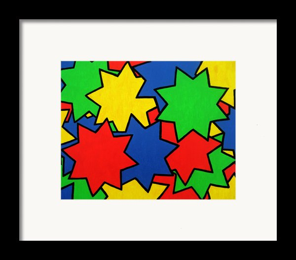 Starburst Framed Print By Oliver Johnston