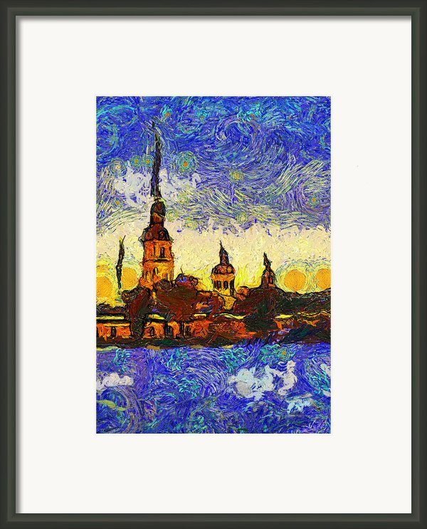 Starred Saint Petersburg Framed Print By Yury Malkov