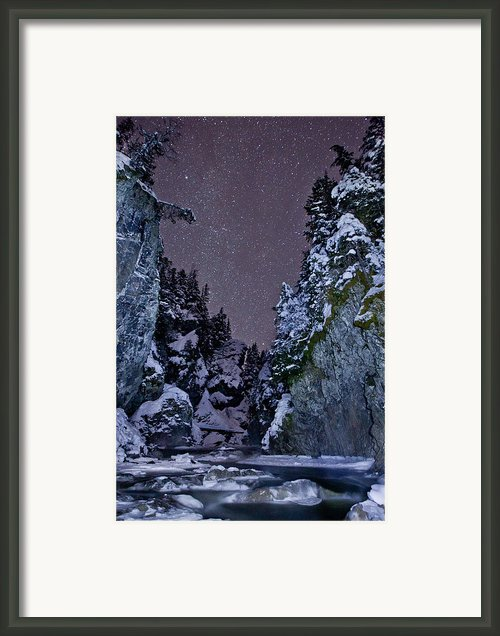 Starry Creek Framed Print By Brandon Broderick