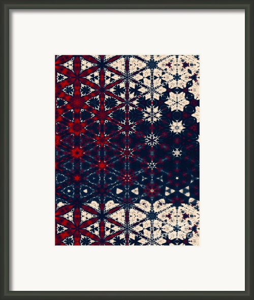 Starry Night Abstract Framed Print By Zeana Romanovna