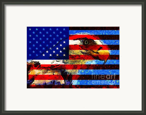 Starry Nights In America . 40d6715 Framed Print By Wingsdomain Art And Photography