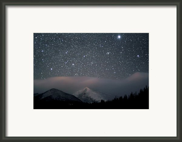 Stars Over Rocky Mountain National Park Framed Print By Pat Gaines