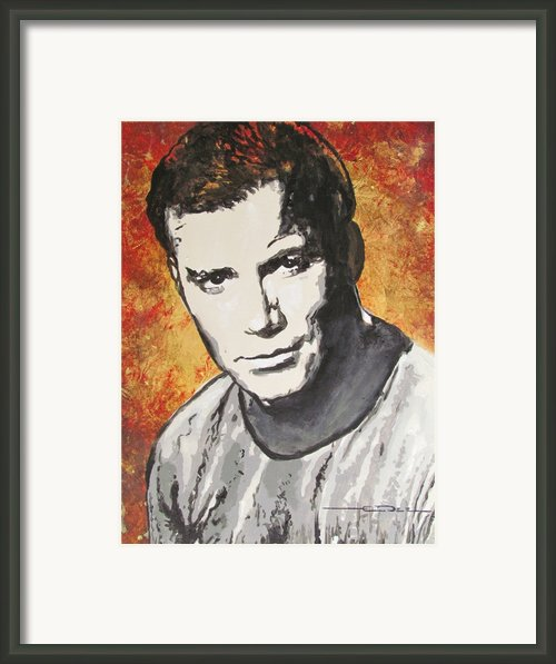 Starship Enterprise Captain Kirk Framed Print By Eric Dee
