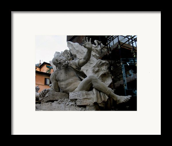 Statue At Piazza Framed Print By Suhas Tavkar