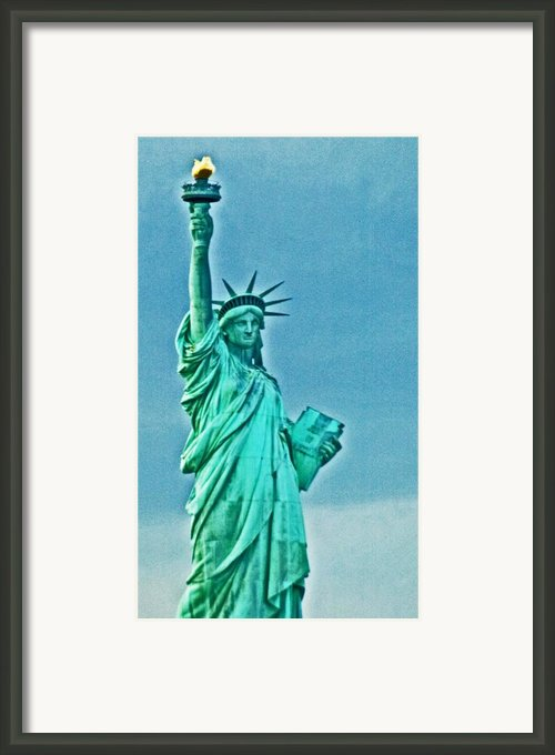 Statue Of Liberty Framed Print By Allan Einhorn