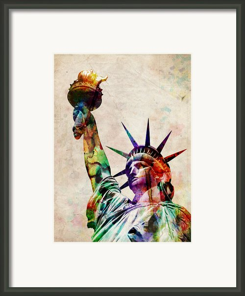 Statue Of Liberty Framed Print By Michael Tompsett