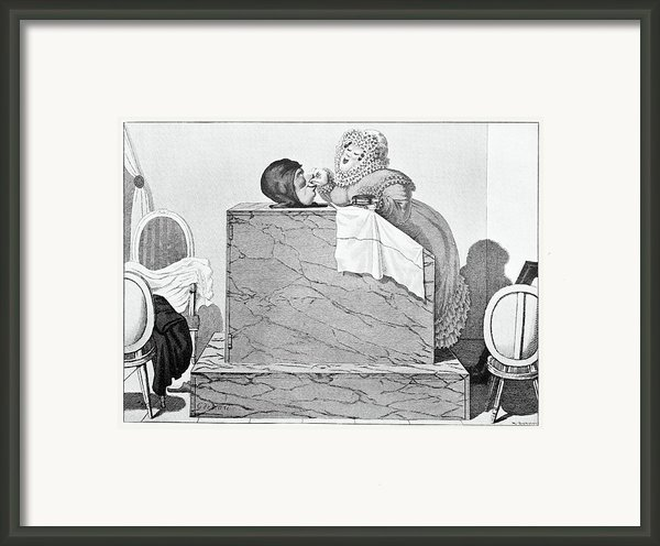 Steam Bath, Satirical Artwork Framed Print By
