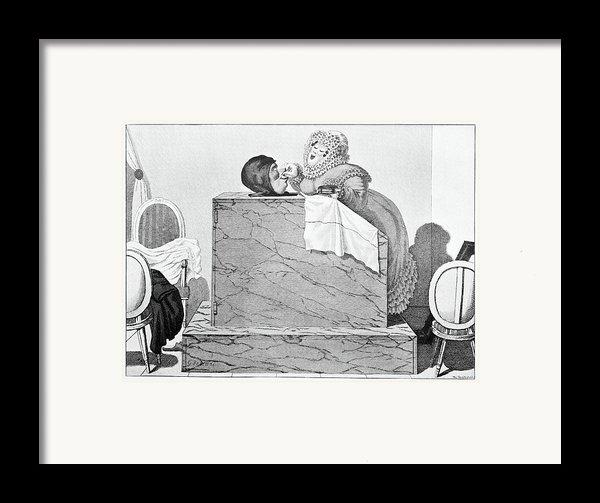Steam Bath, Satirical Artwork Framed Print By
