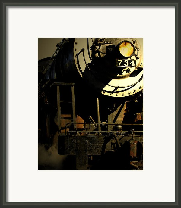 Steaming Into Harbor  Framed Print By Steven  Digman