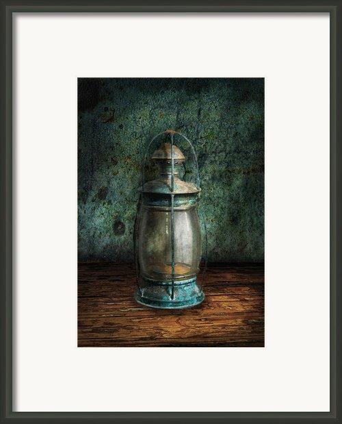 Steampunk - An Old Lantern Framed Print By Mike Savad