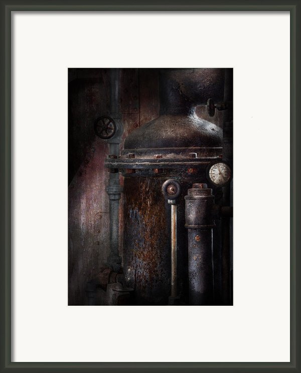 Steampunk - Handling Pressure  Framed Print By Mike Savad