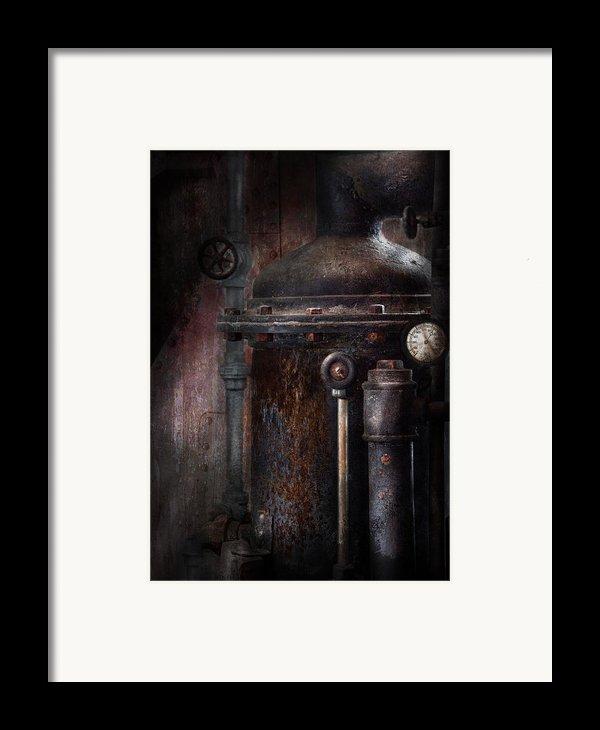 Steampunk - Handling Pressure  Framed Print By Mike Savad