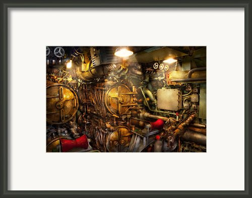 Steampunk - Naval - The Torpedo Room Framed Print By Mike Savad