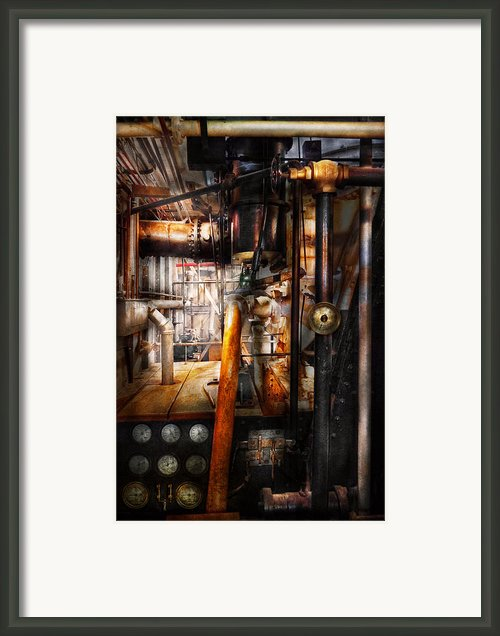 Steampunk - Plumbing - Pipes Framed Print By Mike Savad