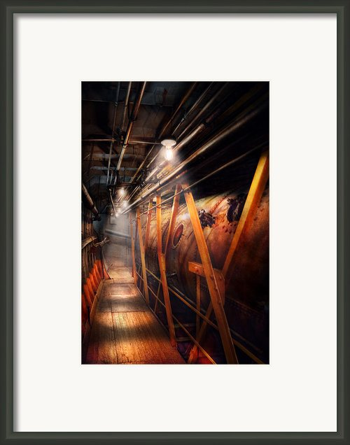 Steampunk - Plumbing - The Hallway Framed Print By Mike Savad