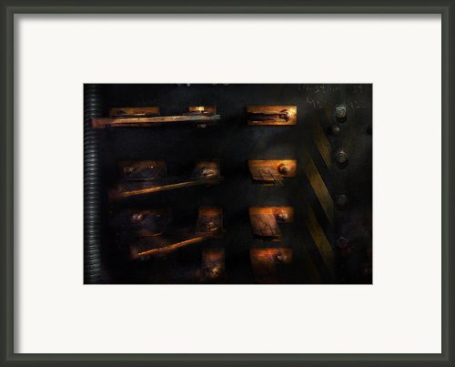 Steampunk - Pull The Switch Framed Print By Mike Savad