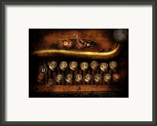Steampunk - Remuneration Mechanism Framed Print By Mike Savad