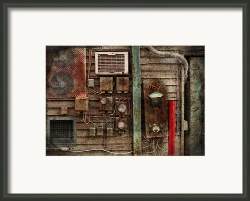 Steampunk - The Future  Framed Print By Mike Savad