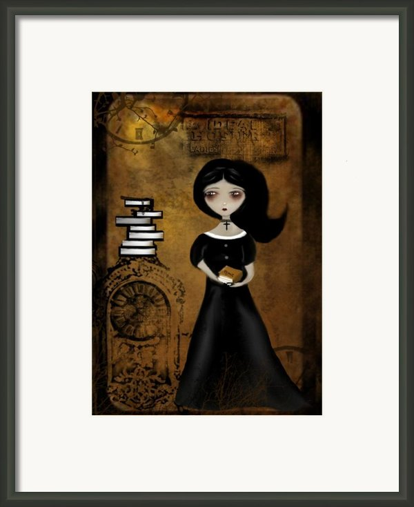 Steampunk Bibliophile Framed Print By Charlene Zatloukal