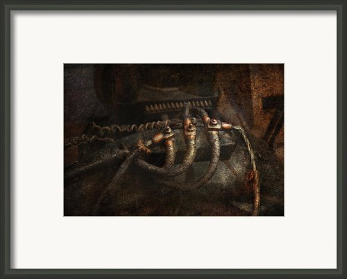 Steampunk - Electrical - Frayed Connections Framed Print By Mike Savad