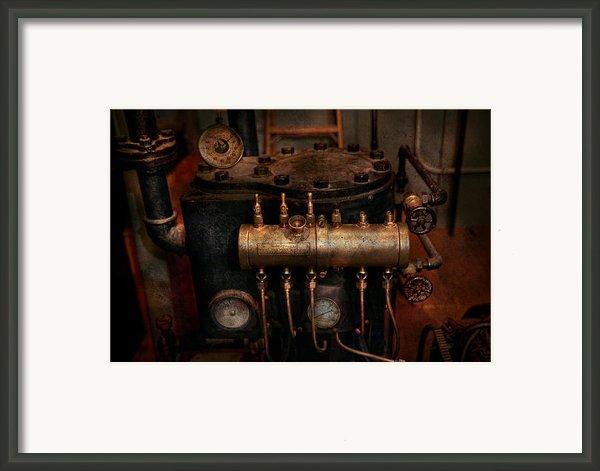 Steampunk - Plumbing - The Valve Matrix Framed Print By Mike Savad