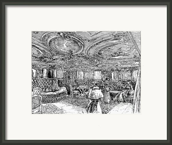Steamship Salon, C1890 Framed Print By Granger