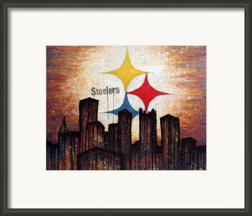 Steelers. Framed Print By Mark M  Mellon