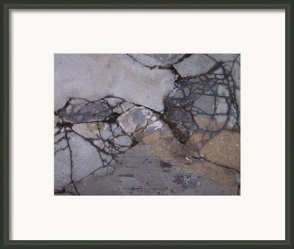 Step On A Crack 2 Framed Print By Anna Villarreal Garbis