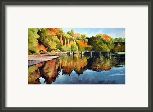 Stepping Stones Bolton Abbey Framed Print By Paul Dene Marlor