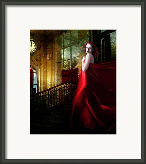 Steps In Red Framed Print By Karen Koski