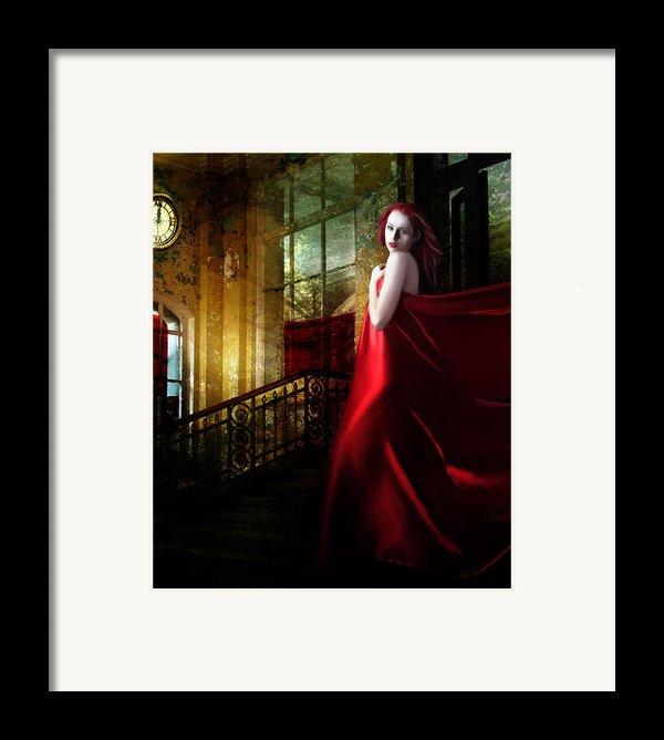 Steps In Red Framed Print By Karen H