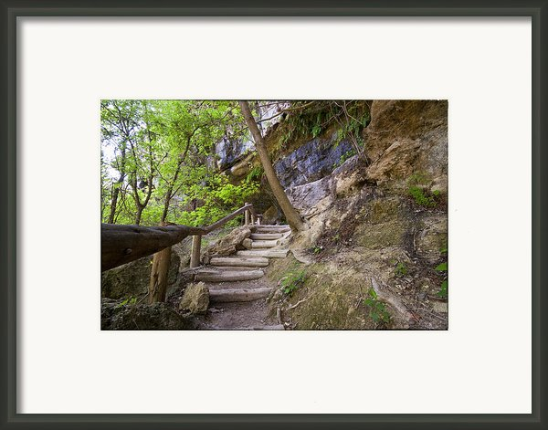 Steps To The Cave Framed Print By Lisa  Spencer