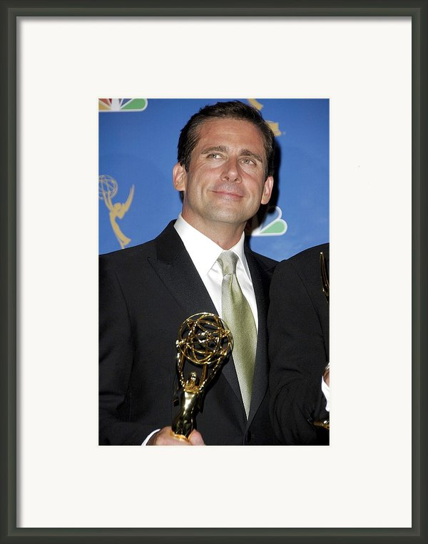 Steve Carell In The Press Room For 58th Framed Print By Everett