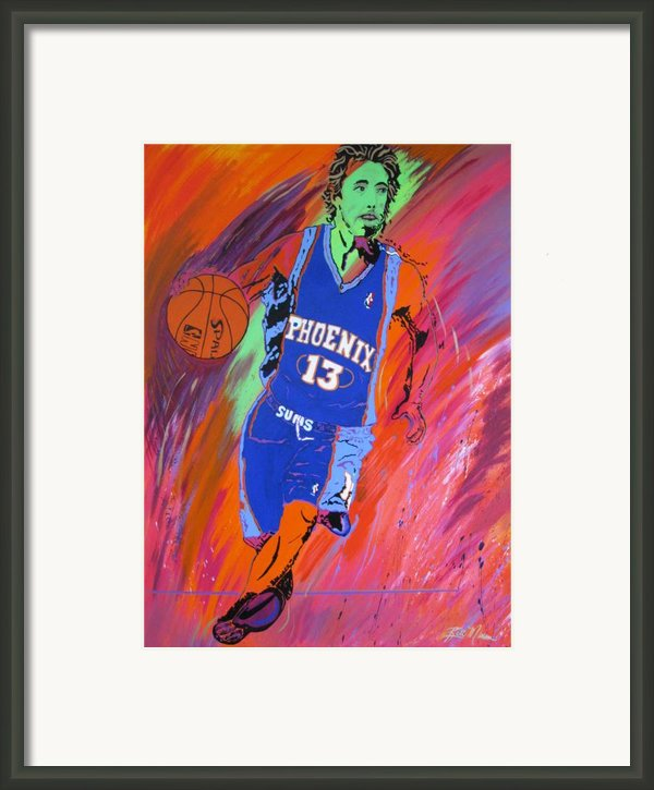 Steve Nash-vision Of Scoring Framed Print By Bill Manson