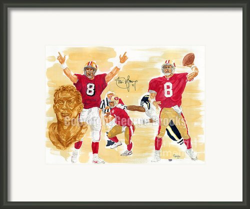 Steve Young - Hall Of Fame Framed Print By George  Brooks