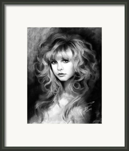 Stevie Nicks Framed Print By Ylli Haruni