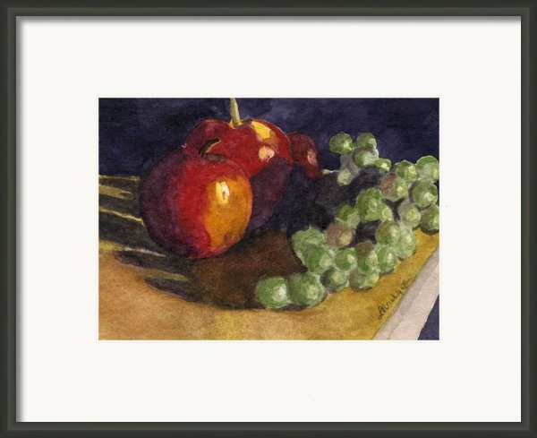 Still Apples Framed Print By Lynne Reichhart