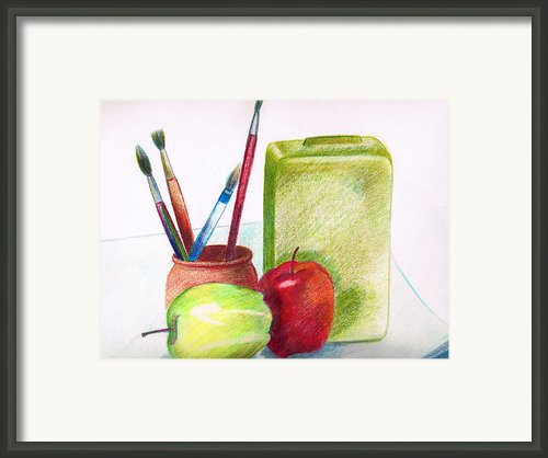 Still Life 2 Framed Print By Zara Gdezfuli