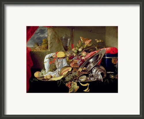 Still Life Framed Print By Jan Davidsz Heem