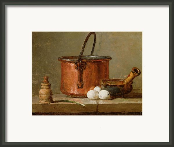 Still Life Framed Print By Jean-baptiste Simeon Chardin