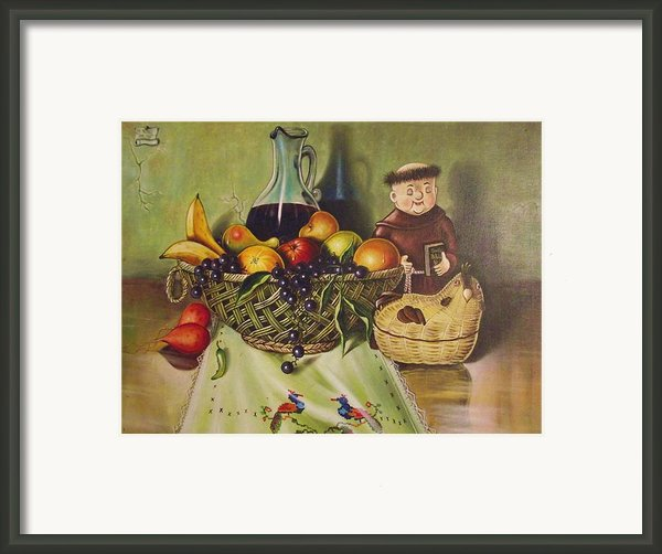 Still Life With Moms Needle Work Framed Print By Joe Santana