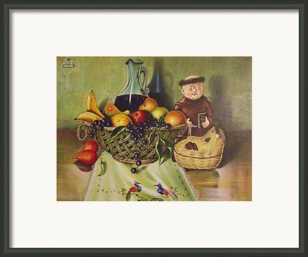 Still Life With Moms Needle Work Framed Print By Joe Santana