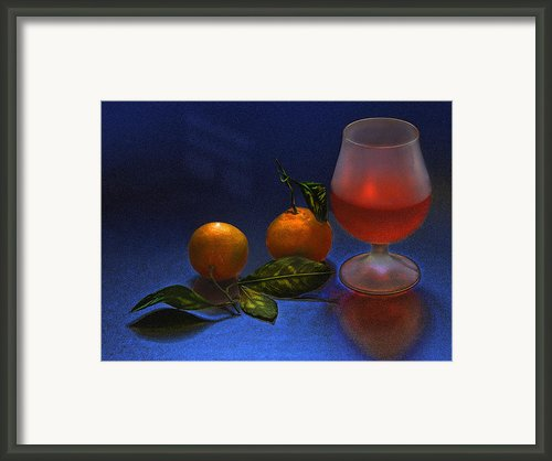 Still Life With Tangerins Framed Print By Vladimir Kholostykh