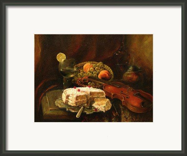 Still-life With The Violin Framed Print By Tigran Ghulyan