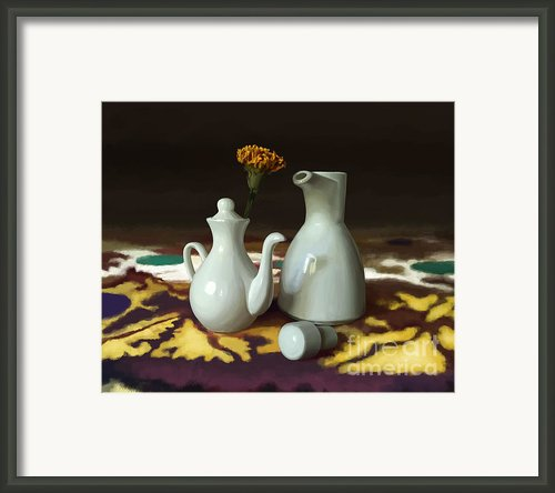 Still Life With White Jugs Framed Print By Artyom Ernst