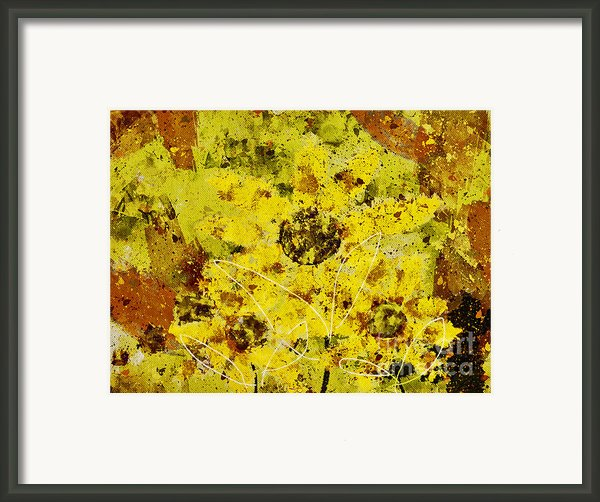 Stimuli Floral - S07bt01 Framed Print By Variance Collections