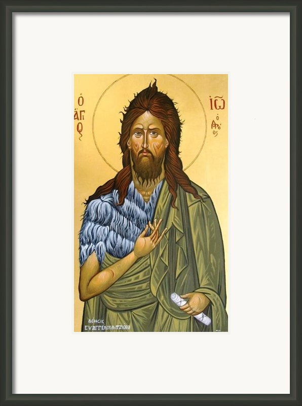 St.john The Baptist Framed Print By George Siaba