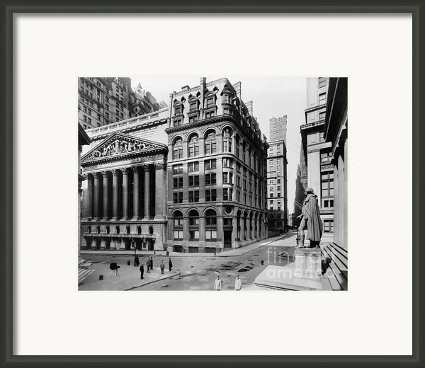 Stock Exchange, C1908 Framed Print By Granger